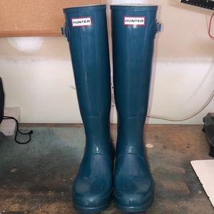 Hunter Tall Rainboots: Teal